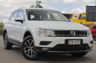 2017 Volkswagen Tiguan 5N MY18 110TDI DSG 4MOTION Comfortline Pure White 7 Speed.