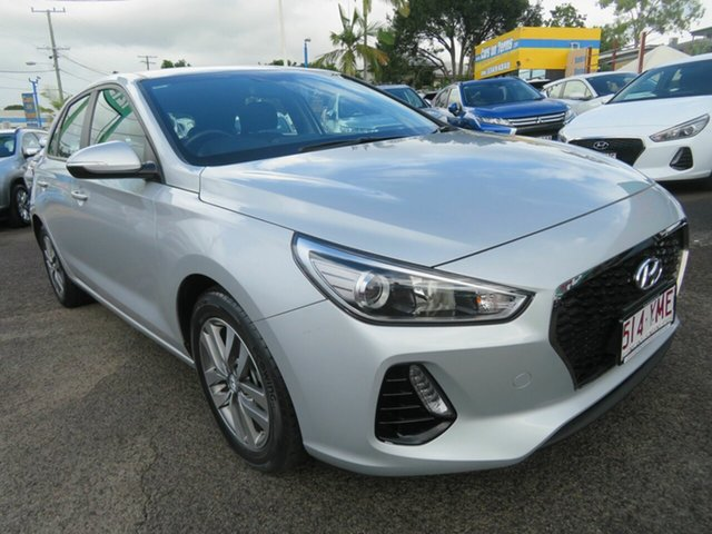 Used Hyundai i30 PD2 MY18 Active Mount Gravatt, 2018 Hyundai i30 PD2 MY18 Active Silver 6 Speed Sports Automatic Hatchback