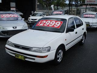 1999 Toyota Corolla AE101R CSi Seca White 4 Speed Automatic Liftback.