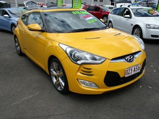 2012 Hyundai Veloster Yellow 5 Speed Manual Hatchback.