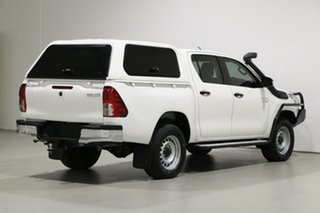 2018 Toyota Hilux GUN126R MY19 SR (4x4) White 6 Speed Manual Double Cab Pick Up