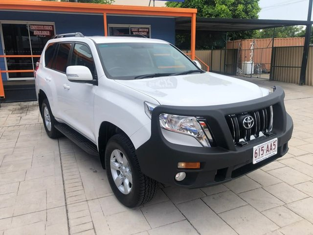 Used Toyota Landcruiser Prado GDJ150R GXL Mundingburra, 2017 Toyota Landcruiser Prado GDJ150R GXL White 6 Speed Sports Automatic Wagon