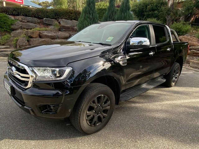 Demo Ford Ranger PX MkIII 2020.75MY XLT Totness, 2020 Ford Ranger PX MkIII 2020.7 XLT Shadow Black 10 Speed SMF Double Cab Pick Up