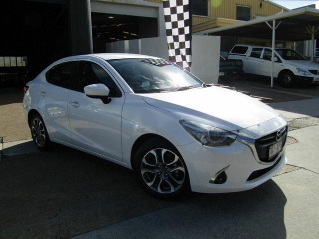 Used Mazda 2 DL2SAA GT SKYACTIV-Drive Moorooka, 2017 Mazda 2 DL2SAA GT SKYACTIV-Drive White 6 Speed Sports Automatic Sedan