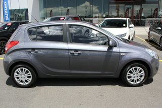 2011 Hyundai i20 PB MY11 Active Grey 5 Speed Manual Hatchback.