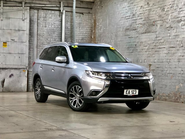 Used Mitsubishi Outlander ZK MY16 Exceed 4WD Mile End South, 2015 Mitsubishi Outlander ZK MY16 Exceed 4WD Silver 6 Speed Sports Automatic Wagon