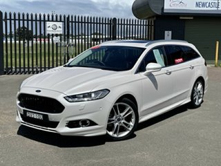 2017 Ford Mondeo MD 2018.25MY Titanium White 6 Speed Sports Automatic Dual Clutch Wagon.