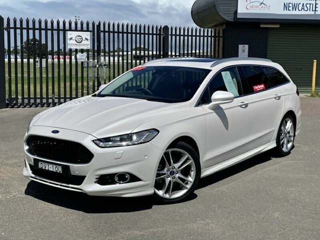 Used Ford Mondeo MD 2018.25MY Titanium Newcastle, 2017 Ford Mondeo MD 2018.25MY Titanium White 6 Speed Sports Automatic Dual Clutch Wagon