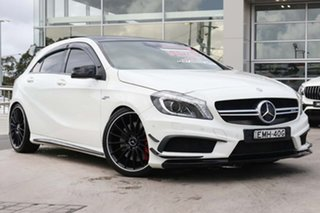 2014 Mercedes-Benz A-Class W176 A45 AMG SPEEDSHIFT DCT 4MATIC Cirrus White 7 Speed.