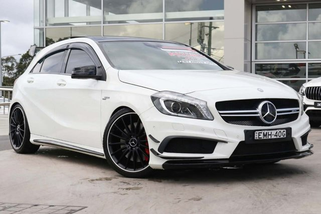 Used Mercedes-Benz A-Class W176 A45 AMG SPEEDSHIFT DCT 4MATIC Liverpool, 2014 Mercedes-Benz A-Class W176 A45 AMG SPEEDSHIFT DCT 4MATIC Cirrus White 7 Speed
