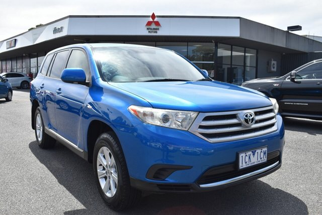 Used Toyota Kluger GSU40R MY12 KX-R 2WD Wantirna South, 2012 Toyota Kluger GSU40R MY12 KX-R 2WD Blue 5 Speed Sports Automatic Wagon