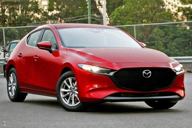 Demo Mazda 3 BP2H7A G20 SKYACTIV-Drive Pure Waitara, 2020 Mazda 3 BP2H7A G20 SKYACTIV-Drive Pure Red 6 Speed Sports Automatic Hatchback