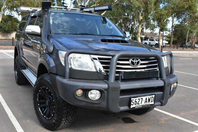 Used Toyota Hilux KUN26R MY14 SR5 Double Cab St Marys, 2013 Toyota Hilux KUN26R MY14 SR5 Double Cab Grey 5 Speed Automatic Utility