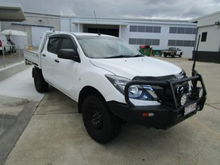 2018 Mazda BT-50 UR0YG1 XT White 6 Speed Manual Cab Chassis.