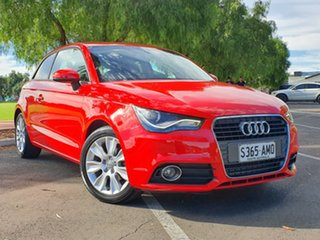 2011 Audi A1 8X MY12 Ambition S Tronic Red 7 Speed Sports Automatic Dual Clutch Hatchback.