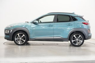 2020 Hyundai Kona OS.3 MY20 Highlander 2WD Ceramic Blue 6 Speed Sports Automatic Wagon.