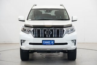 2019 Toyota Landcruiser Prado GDJ150R VX Pearl White 6 Speed Sports Automatic Wagon.