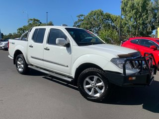 2012 Nissan Navara D40 S6 MY12 ST White 5 Speed Sports Automatic Utility.