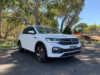 2020 Volkswagen T-Cross C1 MY21 85TSI DSG FWD Style Pure White 7 Speed Sports Automatic Dual Clutch.