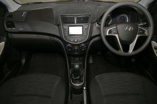 2016 Hyundai Accent RB4 MY16 Active White 6 Speed Manual Sedan