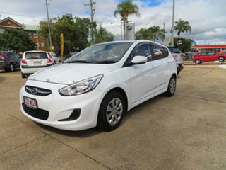 2016 Hyundai Accent Active White Automatic Hatchback