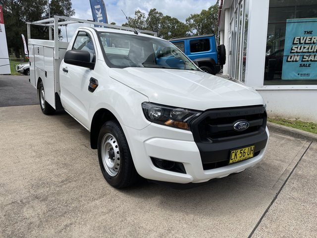 Used Ford Ranger PX MkII XL Maitland, 2017 Ford Ranger PX MkII XL White 6 Speed Manual Cab Chassis