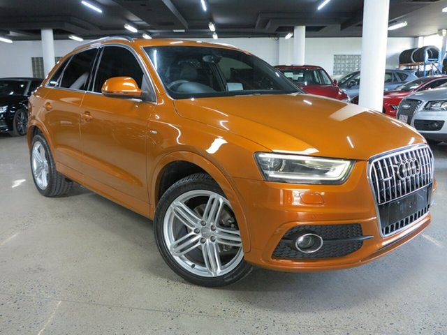 Used Audi Q3 8U MY12 TFSI S Tronic Quattro Albion, 2012 Audi Q3 8U MY12 TFSI S Tronic Quattro Orange 7 Speed Sports Automatic Dual Clutch Wagon