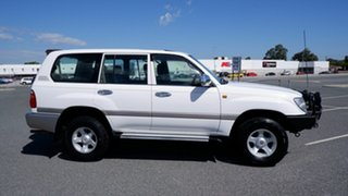 2001 Toyota Landcruiser FZJ105R GXL White 4 Speed Automatic Wagon.