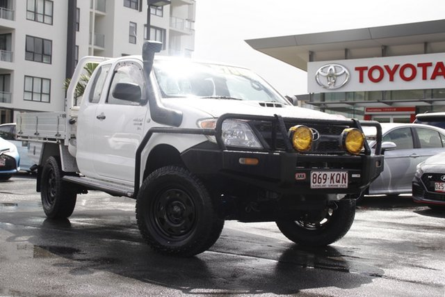Pre-Owned Toyota Hilux KUN26R MY08 SR Xtra Cab Upper Mount Gravatt, 2007 Toyota Hilux KUN26R MY08 SR Xtra Cab White 5 Speed Manual Cab Chassis