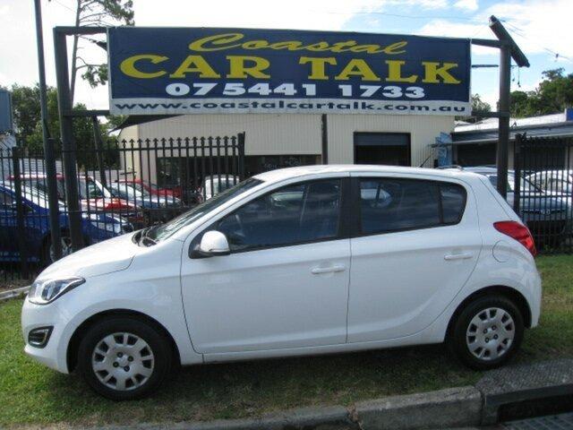 Used Hyundai i20 PB MY14 Active Nambour, 2014 Hyundai i20 PB MY14 Active White 4 Speed Automatic Hatchback