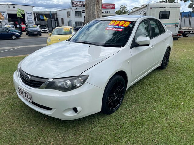 Used Subaru Impreza G3 MY09 R AWD Clontarf, 2008 Subaru Impreza G3 MY09 R AWD White 4 Speed Sports Automatic Sedan