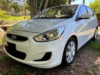 2019 Hyundai Accent RB6 MY19 Sport Chalk White 6 Speed Manual Hatchback.