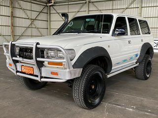 1994 Toyota Landcruiser HZJ80R DX White 5 Speed Manual Wagon.