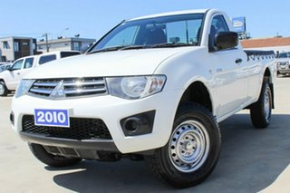 2010 Mitsubishi Triton MN MY11 GLX 4x2 White 4 Speed Automatic Utility.
