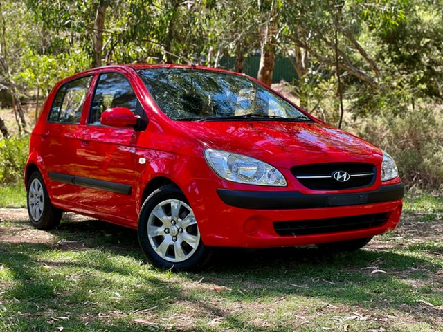 Used Hyundai Getz TB MY09 S Reynella, 2009 Hyundai Getz TB MY09 S Hip Hop Red 4 Speed Automatic Hatchback