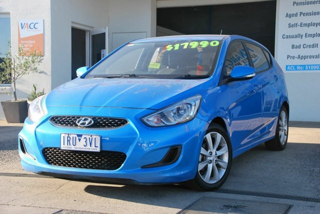 Used Hyundai Accent RB5 Sport Wendouree, 2017 Hyundai Accent RB5 Sport Blue 6 Speed Automatic Hatchback