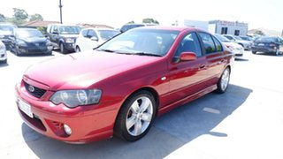 2006 Ford Falcon BF Mk II XR6 Red 4 Speed Sports Automatic Sedan