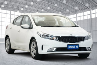 2017 Kia Cerato YD MY18 S Clear White 6 Speed Sports Automatic Sedan.