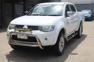 2010 Mitsubishi Triton MN MY10 GLX-R (4x4) White 5 Speed Automatic 4x4 Double Cab Utility.