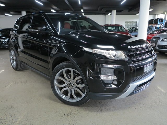 Used Land Rover Range Rover Evoque L538 MY13 SD4 CommandShift Dynamic Albion, 2013 Land Rover Range Rover Evoque L538 MY13 SD4 CommandShift Dynamic Black 6 Speed Sports Automatic
