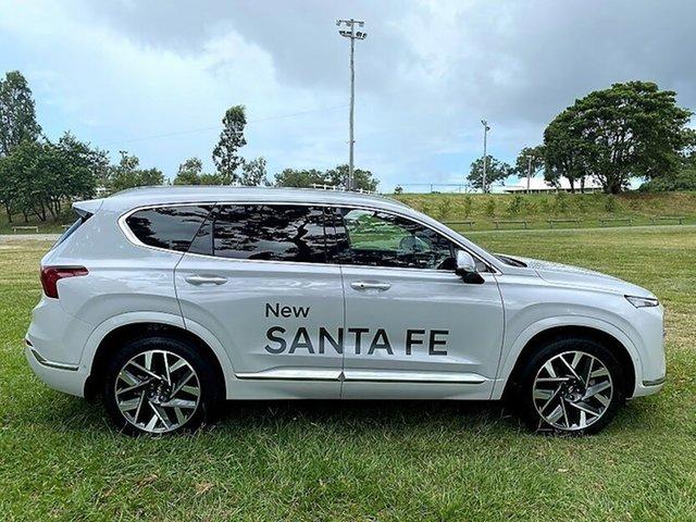 Demo Hyundai Santa Fe Tm.v3 MY21 Highlander DCT Mount Gravatt, 2020 Hyundai Santa Fe Tm.v3 MY21 Highlander DCT Glacier White 8 Speed Sports Automatic Dual Clutch