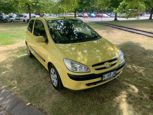 Used Hyundai Getz TB MY07 SX Launceston, 2007 Hyundai Getz TB MY07 SX Yellow 5 Speed Manual Hatchback