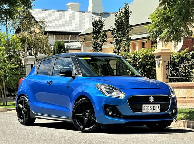 Used Suzuki Swift AZ GLX Turbo Hyde Park, 2018 Suzuki Swift AZ GLX Turbo Blue 6 Speed Sports Automatic Hatchback