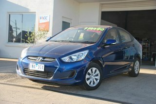 2016 Hyundai Accent RB3 MY16 Active Blue 6 Speed CVT Auto Sequential Sedan.