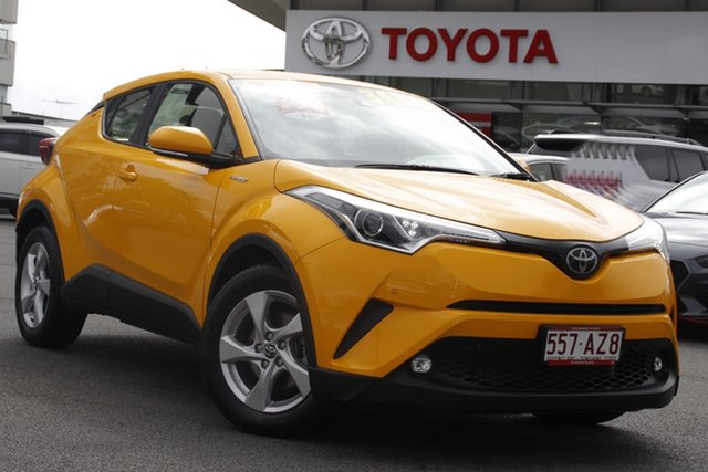 Pre-Owned Toyota C-HR NGX10R S-CVT 2WD Upper Mount Gravatt, 2019 Toyota C-HR NGX10R S-CVT 2WD Yellow 7 Speed Constant Variable Wagon