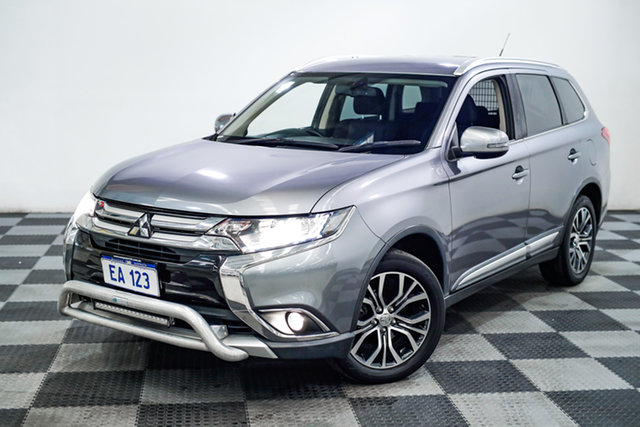 Used Mitsubishi Outlander ZK MY16 XLS 2WD Edgewater, 2016 Mitsubishi Outlander ZK MY16 XLS 2WD Grey 6 Speed Constant Variable Wagon