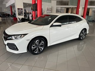 2019 Honda Civic 10th Gen MY19 VTi-L White 1 Speed Constant Variable Hatchback