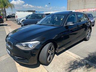 2012 BMW 116i F20 Sport Line Black 6 Speed Manual Hatchback.