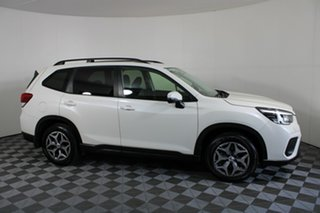 2018 Subaru Forester S5 MY19 2.5i CVT AWD White Pearl 7 Speed Constant Variable Wagon.
