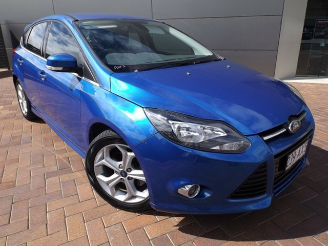 Used Ford Focus LW Sport PwrShift Toowoomba, 2012 Ford Focus LW Sport PwrShift Blue 6 Speed Sports Automatic Dual Clutch Hatchback